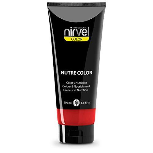 Nirvel NUTRE COLOR FLUOR Carmin 200 mL Mascarilla Profesional - Coloración temporal - Nutrición y brillo