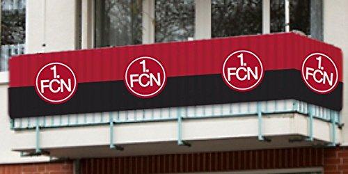 1. FC Nürnberg FCN Balkonfahne Fahne 500cm x 90cm