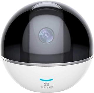 Ezviz C6T - Cámara de Seguridad Pan/Tilt Visión Nocturna Audio Bidireccional Máscara de Privacidad Inteligente Seguimiento de Movimiento Servicio de Nube Compatible con Alexa