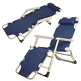 Best Beach Loungers - Livebest Outdoor Beach Lounge Chair Adjustable Reclining Chaise Review