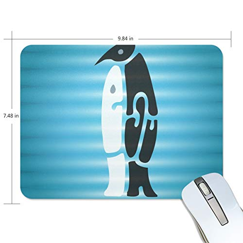 Basics Gaming Muis Pad Geweldige Pinguïn Knuffel Muis Mat Gaming Muis Pad Computer Toetsenbord Muis Pad 9.84x7.84x0.2 in