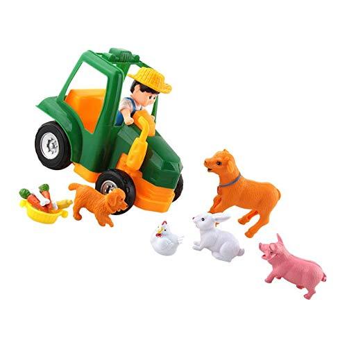 SM SunniMix Simulation Bauernhaus Spielzeug Tiere Szenen Spielzeug Geschenk Für Mädchen Und Jungen - S3