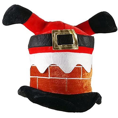 fetyler Christmas Hat Funny Hat Novelty Santa Hat Crazy Hats Santa Pants Cap Christmas Kid Gift Inverted Hat