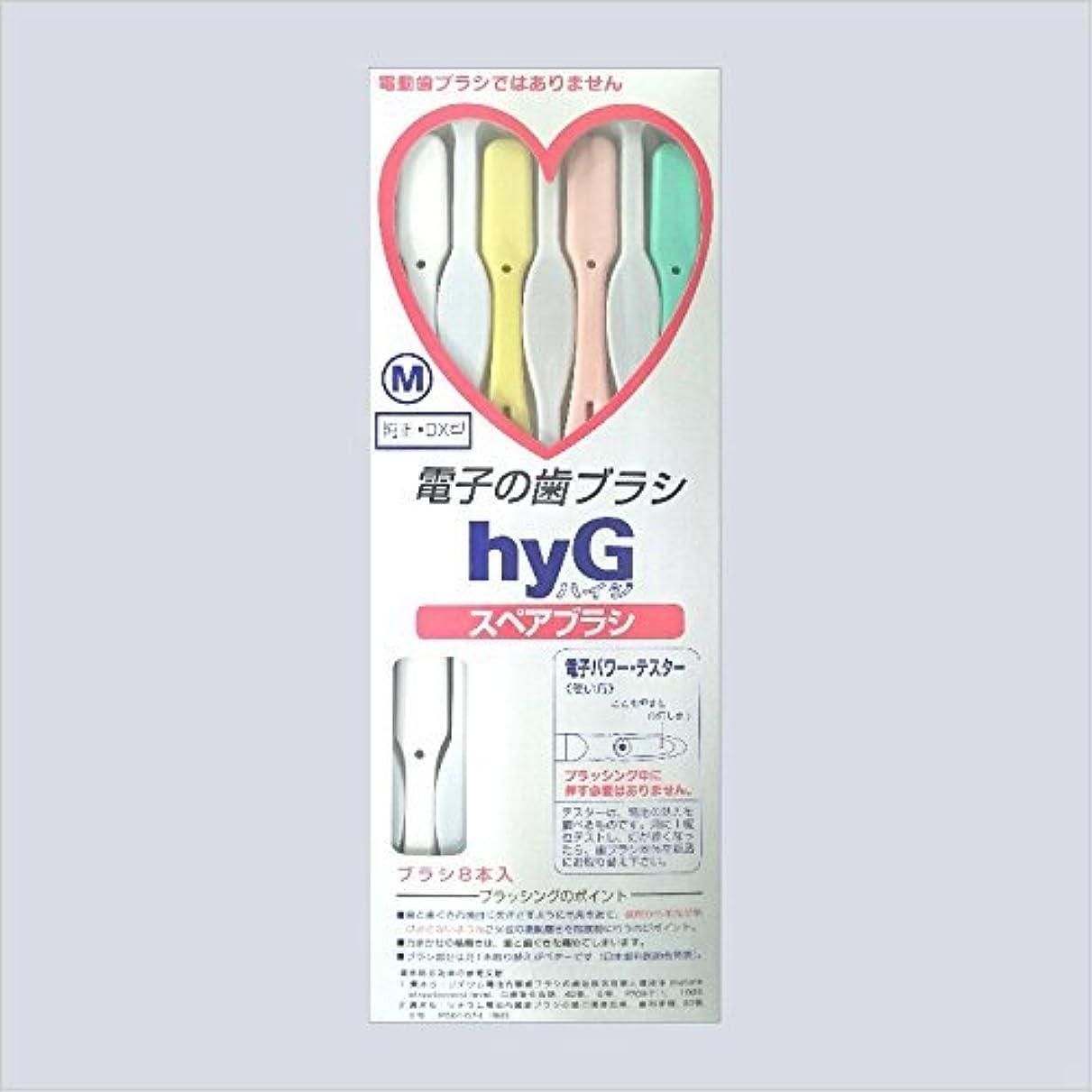 服処理するマーク電子の歯ブラシ ハイジ(hyG)?スペアブラシ <ブラシの硬さ:Hかため> (※こちらは「スペアブラシ」です )?hyG-DX型