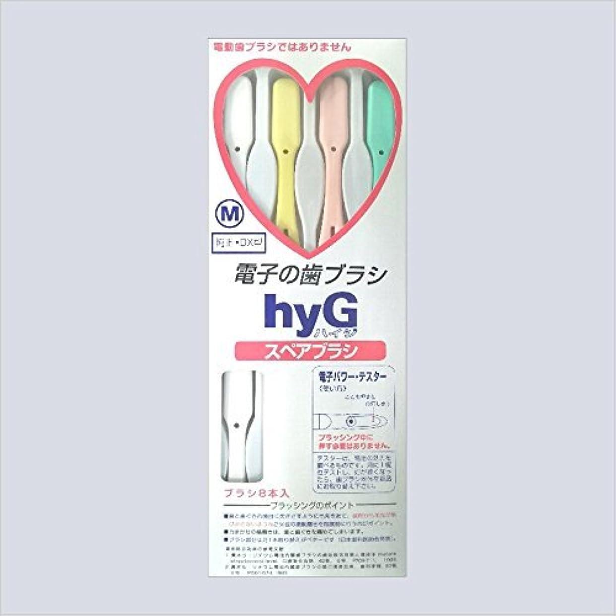 通信網散逸変位電子の歯ブラシ ハイジ(hyG)?スペアブラシ <ブラシの硬さ:Hかため> (※こちらは「スペアブラシ」です )?hyG-DX型