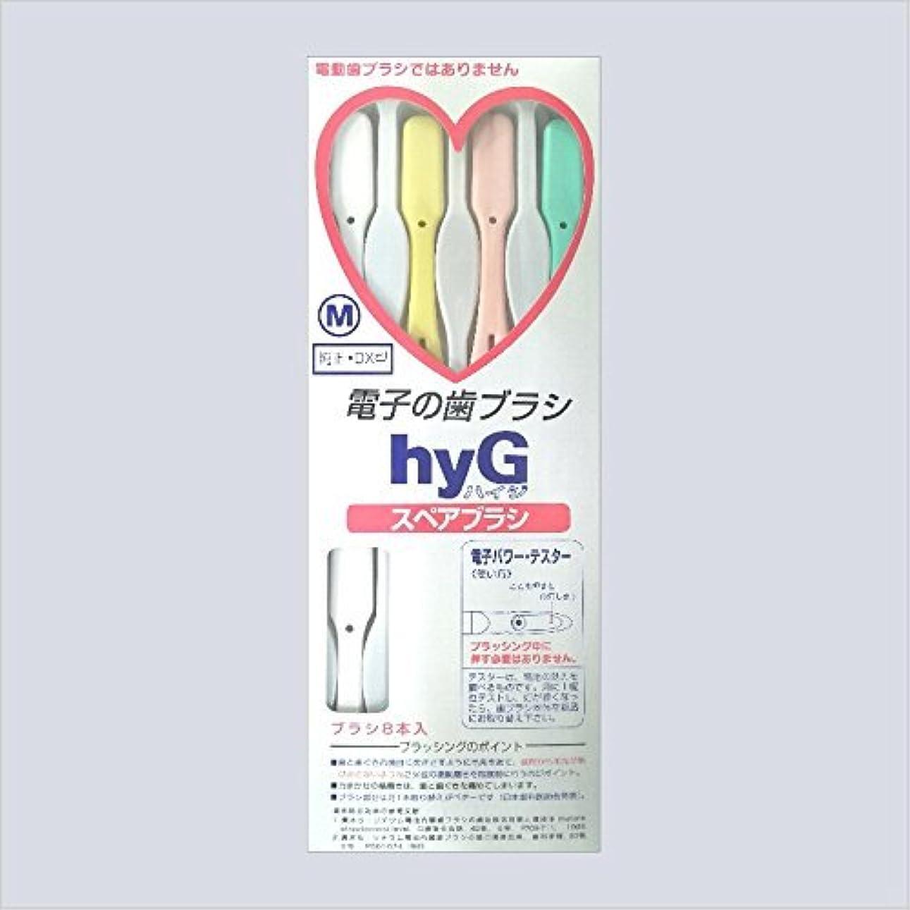今まで流産無数の電子の歯ブラシ ハイジ(hyG)?スペアブラシ <ブラシの硬さ:Mふつう> (※こちらは「スペアブラシ」です )?hyG-DX型