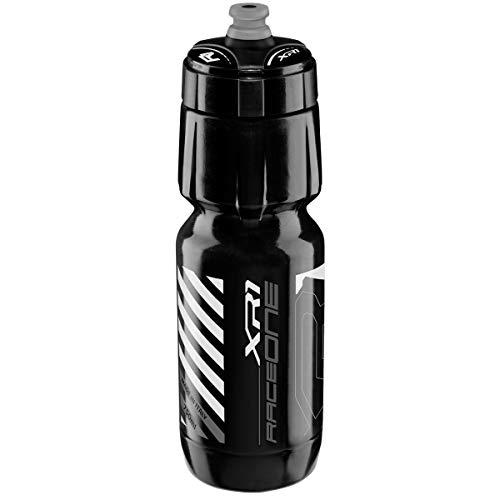 Raceone Trinkflasche Radfahren, Schwarz/Silber, 750 ml, 12 0 75 080