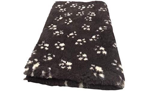 Topmast Vet Bed Hundedecke Doppelpack XXL 2x150/100cm XXL-Vet Bed braun mit Pfoten - mit Latex Anti-Rutsch, waschbar bis 40 Grad, Autodecke, Wurfdecke