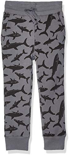 Amazon Essentials Jungen Fleece-Jogginghose, Grey Shark, US M (EU 128 CM)