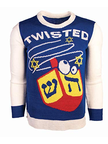 Forum Novelties Adult Twisted Dreidel Chanukah Sweater, As Shown, Large