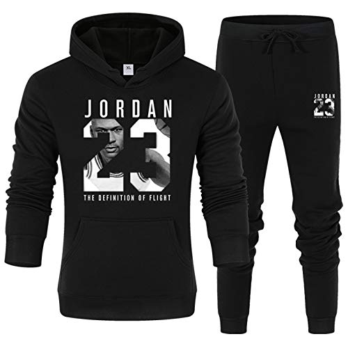 AWYMA Trainingsanzug-Set Für Herren Jordan 23# Basketball Uniform Jogging Bottoms Hoodies Hose Sportanzug-Sets Joggerhose