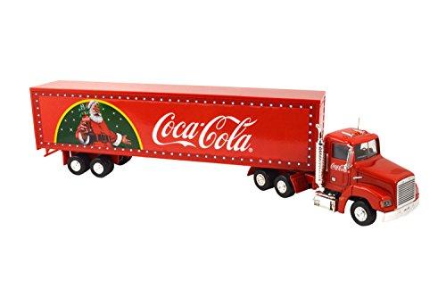 Coca Cola camion camión de Navidad con luz LED remolque modelo Diecas