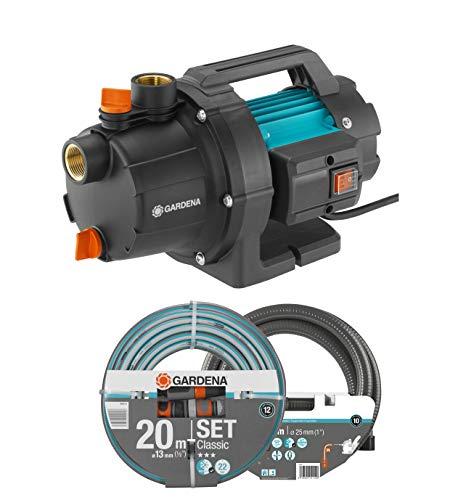 GARDENA Gartenpumpe 3000/4 Basic Set: 600W Leistung, 3,5 bar max. Druck, ideal zur...