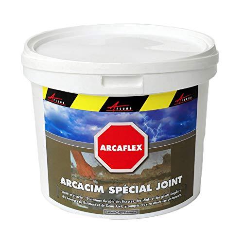 Arcáflex - Mortero flexible para reparación de grietas de hormigón y azulejos de pared fachada de piscina, tratamiento de acero PVC – verde oscuro – 2 kg – Arcane Industries