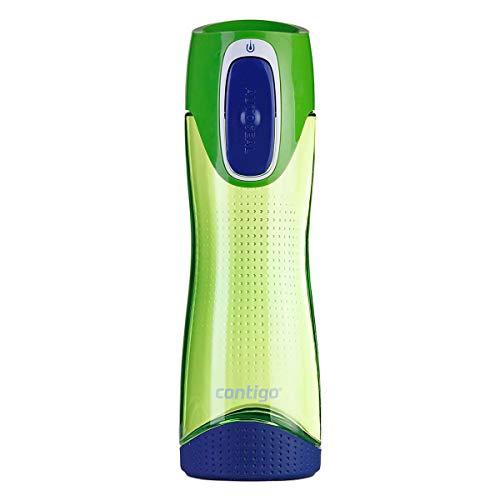 Contigo Trinkflasche Swish Autoseal große BPA-freie Kunststoff Wasserflasche, auslaufsicher, für Sport, Fahrrad, Joggen, Wandern, 500 ml, Citron