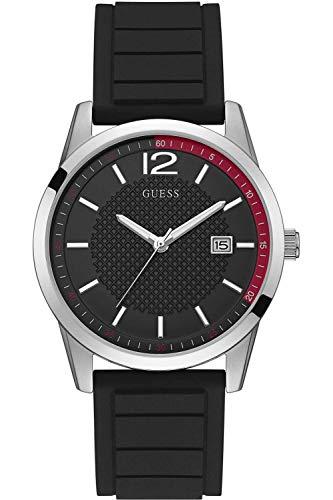 Guess Perry Reloj para Hombre Analógico de Cuarzo con Brazalete de Silicona W0991G1