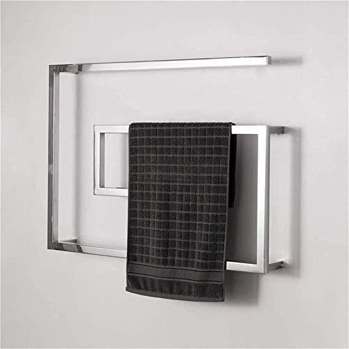 Toallero calefactado montado en la pared, Railleñas de toallas con calefacción Toalla de acero inoxidable Calentador de toallas, Toalla con calefacción eléctrica Riel de toallas calientes con barras c