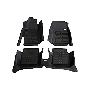 TuxMat Custom Car Floor Mats for Subaru Impreza WRX/WRX STI 2008-2014 Models - Laser Measured, Largest Coverage, Waterproof, All Weather. The Best Subaru Impreza WRX Accessory. (Full Set - Black)