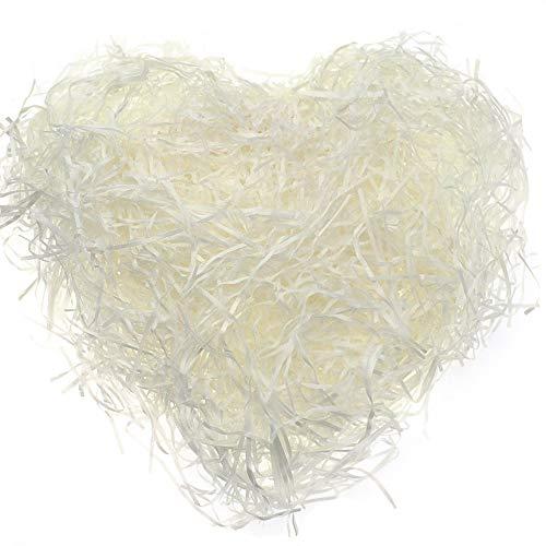 Rayong Geschreddertes Papier Füllmaterial aus Papier Ostern Korb Gras, Füllmaterial Papierschnitzel, füllmaterial Papier für Geschenkdekoration und Korbfüllung, Beige