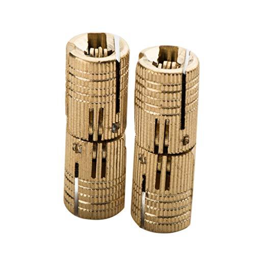 DOITOOL Bisagras de barril de latón de 4 piezas bisagras de caja de joyería pequeña bisagras ocultas invisibles ocultas para muebles (14 mm)