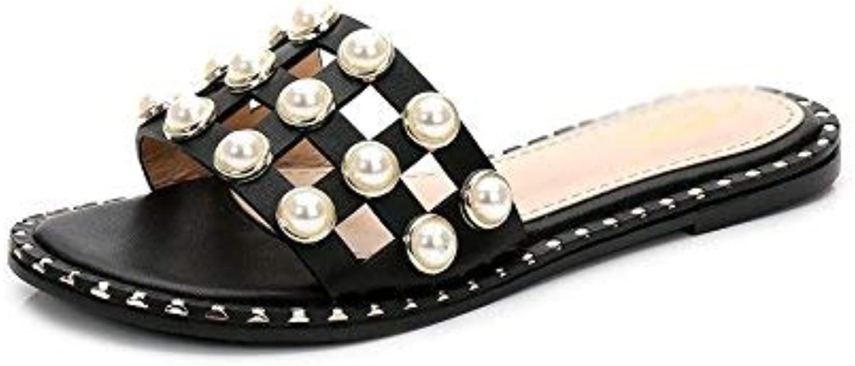 HhGold Damen Flip-Flops Sommer Waichuan Flat Feet Dünger Füe breit Go Out schwarz 5,5 US   35,5 EU   3   UK (Farbe   Wie Gezeigt, Gre   Einheitsgre)