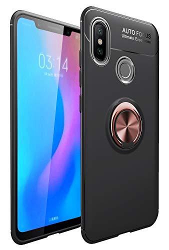 """Yoodi Capa para Huawei Honor 8X Max, capa fina com suporte de anel de 360° [compatível com suporte magnético para carro] Capa de silicone macio com absorção de choque para Huawei Honor 8X Max 7,2"""" - Ouro rosa"""