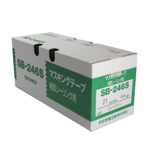 カモ井 マスキングテープ 粗面シーリング SB-246S 21mm×18m 60巻入 [養生テープ]
