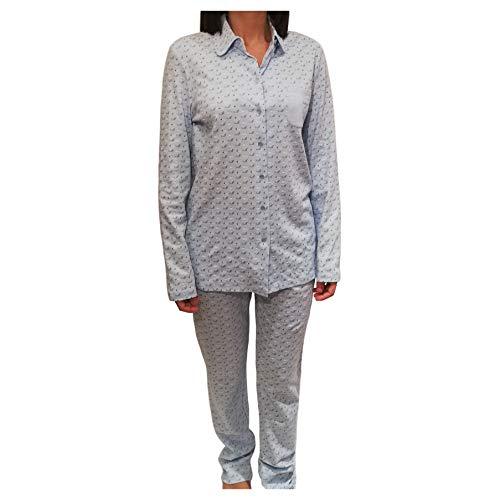 Senoretta Pijamas Mujer Dos Piezas Azul 100% Algodón Art.