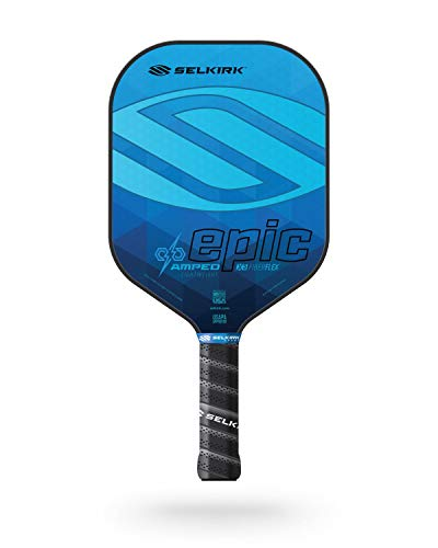 Selkirk Amped Pickleball Paddles - Made in The USA - Use The Paddle of The Pros (2020 Epic Lightweight Sapphire Blue)