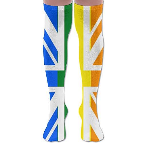 NA LGBT Gay Pride Groot-Brittannië Vlag Hardlopen Jeugd knie hoge sokken