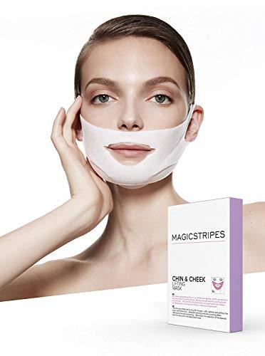 MAGICSTRIPES |Chin & Cheek Lifting Maske | Hautstraffende Gesichtsmaske | Anti Aging und Anti Falten Effekt | Definierungseffekt und Straffung der Gesichtskonturen