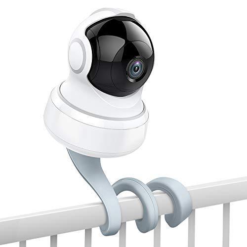 MoKo Baby Kamera Halterung, Vielseitiger Drehbarer Monitor Halter Ständer Monitorhalterung für Meisten Baby Kameras mit 1/4 Gewindeloch Babyphone Halterung Kompatibel mit Arlo, Motorola - Grau