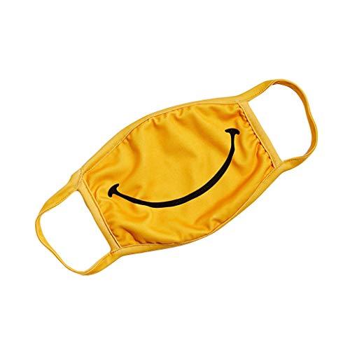 Anti-Staub für Frauen und Männer Verstellbar Zufälliges Muster Weich Waschbare Einfach Smiley Gründeldruck Deckdruck Textildruck Baumwolle