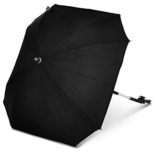 ABC Design Universal Sonnenschirm Sunny – für Kinderwagen und Buggy – UV-Schutz 50+ – Universalhalterung für Rund- und Ovalrohre – Farbe: gravel