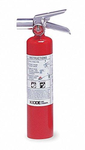 Kidde Fire Extinguisher, Halotron, HydroChloroFluoroCarbon, 2-1/2 lb, 2B:C UL Rating PROPLUS2.5HM - 1 Each