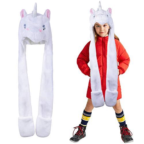Fascigirl Gorras Niño Unicornio Sombrero para Niños Gorro Infantil de Invierno Braga Cuello Niño para Niños y Niñas Conjunto de Bufanda Gorro Niños Kids