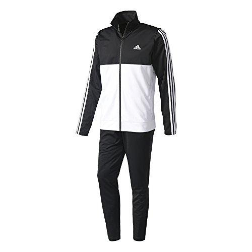 adidas BK4091 Survêtement Homme, Noir/Blanc/Blanc, FR : S (Taille Fabricant : 5)