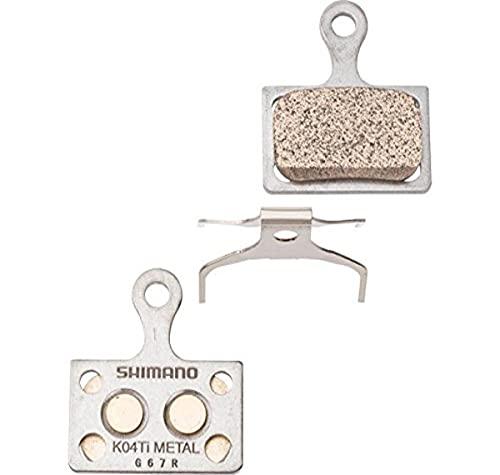 Shimano K04Ti - Coppia di pastiglie per freni a disco, in metallo, colore grigio