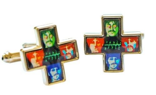 Beatles überqueren psychedelischen Yellow Submarine Manschettenknöpfe