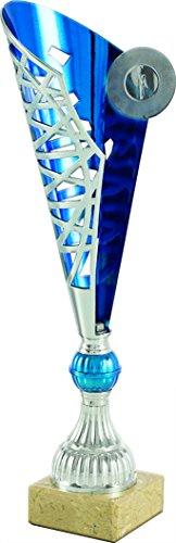 Art-Trophies AT82041 Trofeo Deportivo, Plateado/Azul, Talla Única