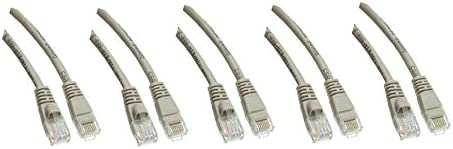 5 pack CAT5E Gray Hi-Speed LAN Limited Ranking integrated 1st place time trial price Snagless Patch M Cable Ethernet