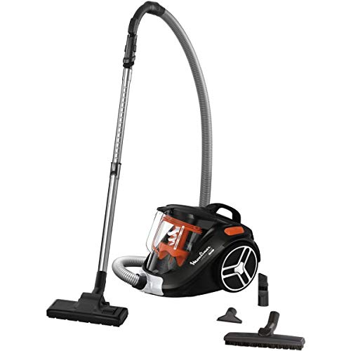 Moulinex - mo3745pa - Aspirateur sans sac 79db noir/orange compact power cyclonic parquet+
