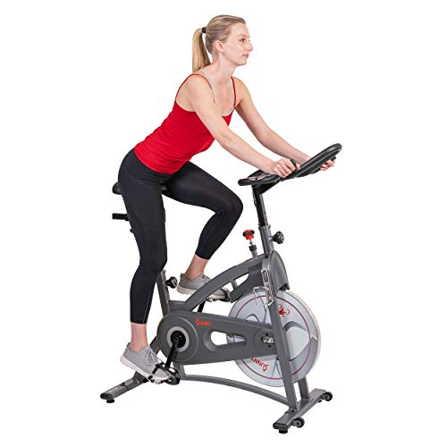 Sunny Health & Fitness Indoor Cycling Stationary Spin Exercise Bike with LCD Display, 30 LB Flywheel...