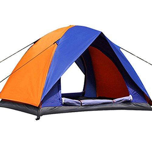 Montañismo camping carpas piscina 2-3-4 Doble protección contra la lluvia el alpinismo camping carpas manual exterior, doble litera tienda tienda naranja azul