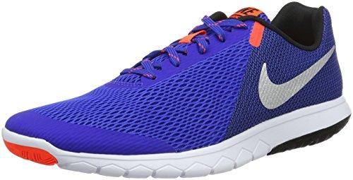 Nike Herren Flex Experience RN 5 Laufschuhe, Blau (Racer Blue), Silber-Metallic, Schwarz, Weiß, 42.5 EU