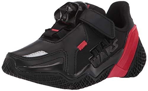 adidas 4Uture Runner Starwars Elastic Running Shoe, Black/Scarlet/Black, 5 US Unisex Little Kid
