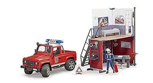 Bruder 62701 - bworld Feuerwehrstation mit Land...