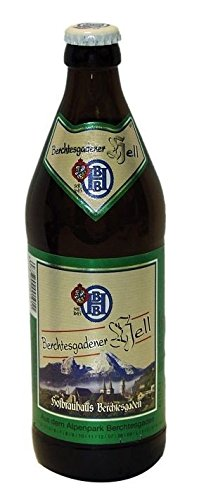 Berchtesgadener Hell (Bier mit 4,9% vol, 16 Flaschen à 0,5l)