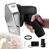 Cordless Electric Shawarma Doner Kebab Slicer,80W Portable Sliced Gyro Cutter Kebab Cutting Knife Machine,with Fast Charger and 2 Rechargeable Battery,0.02-0.31'Thickness