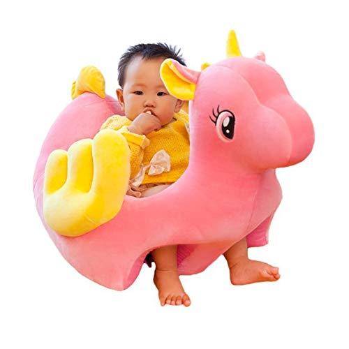 FCFLXJ Asiento de Apoyo para bebés de Peluche, bebé con Forma de Animal Aprendiendo a Sentarse Sillón Mantenga Sentado Postura Cómoda Silla de Sentado Infantil Durante 4 Meses,Rosado